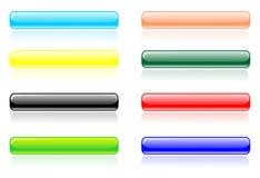 Línea brillante vector del botón Fotos de archivo