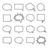 Línea burbujas del discurso stock de ilustración