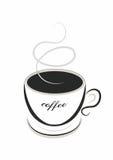 Línea café del arte Imágenes de archivo libres de regalías