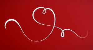 Línea caligráfica en la dimensión de una variable del corazón Imágenes de archivo libres de regalías