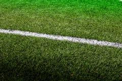 Línea campo de fútbol Foto de archivo libre de regalías