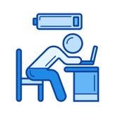 Línea cansada icono del trabajador
