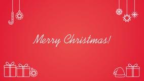 Línea cartel del arte - diseño minimalista de la Feliz Navidad libre illustration