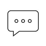 Línea charla del icono Imagen de archivo libre de regalías