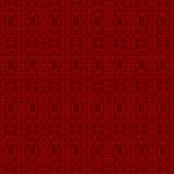 Línea china fondo de la geometría del cuadrado del tracery de la ventana del vintage inconsútil del modelo de la cruz Foto de archivo libre de regalías