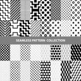 Línea clásica blanca negra colección inconsútil geométrica del diseño del modelo del extracto del vector del zigzag Imágenes de archivo libres de regalías