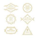 Línea clasificada colección retra de las insignias y de las etiquetas del vintage Fotos de archivo