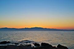 Línea coloreada de la montaña Foto de archivo libre de regalías
