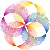 Línea colorida Art Abstract del círculo Stock de ilustración