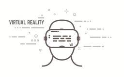 Línea concepto de VR Fotografía de archivo libre de regalías