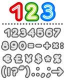 Línea conjunto del alfabeto de las cartas, parte 2 Fotos de archivo
