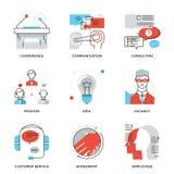 Línea corporativa iconos de los elementos del empleo fijados Fotografía de archivo libre de regalías