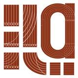 Línea corriente conjunto de la pista ilustración del vector