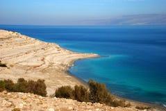 Línea costera del mar muerto Foto de archivo libre de regalías