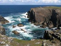 Línea costera en el tope de Lewis (Escocia) Fotografía de archivo libre de regalías