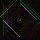 Línea cuadrada colorida movimiento ilustración del vector