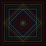 Línea cuadrada colorida movimiento Fotografía de archivo