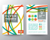 Línea curvada colorida abstracta diseño del aviador del folleto del cartel de la forma Fotografía de archivo libre de regalías