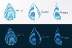 línea de agua del logotipo tres gráfico de vector del diseño del estilo Imagen de archivo