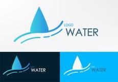 Línea de agua del logotipo vector del diseño de la onda Foto de archivo