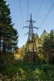 Línea de alto voltaje Imagenes de archivo