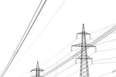 Línea de alto voltaje Imagen de archivo
