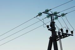 Línea de alto voltaje Foto de archivo