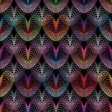 Línea de amor modelo inconsútil colorido stock de ilustración