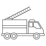 Línea de atención de la urgencia del rescate del fuego del camión ilustración del vector