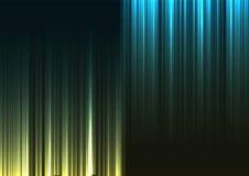 Línea de barra abstracta al revés verde y azul fondo Imagenes de archivo