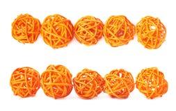 Línea de bolas de la paja aisladas Imagen de archivo