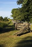 Línea de cerca del Partir-Carril Gettysburg Pennsylvania Foto de archivo libre de regalías