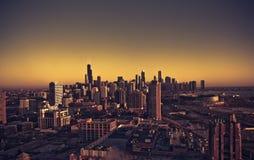 Línea de ciudad de Chicago Imágenes de archivo libres de regalías