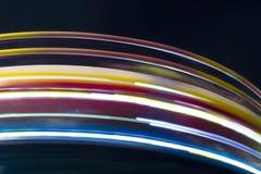 Línea de color de noche de la iluminación Fotografía de archivo