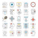 Línea de color plana iconos 20 Imágenes de archivo libres de regalías