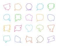 Línea de color simple de la burbuja del discurso sistema del vector de los iconos libre illustration