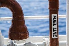 Línea de combustible Fotografía de archivo