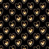 Línea de corazón del amor dentro del modelo inconsútil ilustración del vector