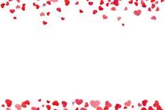 Línea de corazón roja marco ilustración del vector