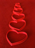 Línea de corazones Fotografía de archivo