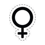 línea de corte femenina del sex symbol del género Imagen de archivo