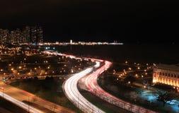Línea de costa céntrica de Chicago imagenes de archivo