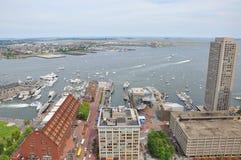 Línea de costa de Boston, embarcadero largo Fotografía de archivo