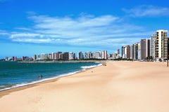 Línea de costa de Fortaleza Imagen de archivo libre de regalías