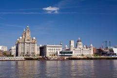 Línea de costa de Liverpool Imágenes de archivo libres de regalías