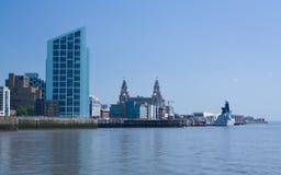 Línea de costa de Liverpool Fotos de archivo libres de regalías