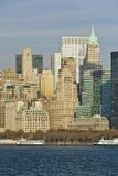 Línea de costa de New York City Foto de archivo