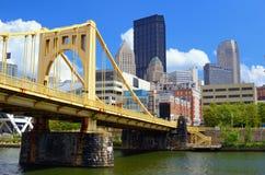 Línea de costa de Pittsburgh Fotos de archivo libres de regalías