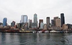 Línea de costa de Seattle Foto de archivo libre de regalías