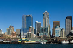 Línea de costa de Seattle imágenes de archivo libres de regalías